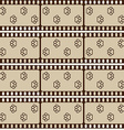 Seamless pattern with film strips and pet paws vector image