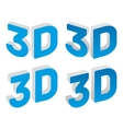 3d sign vector image