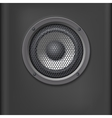 Sound speaker with grille vector image