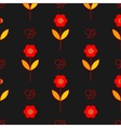 Poppy flowers seamless pattern over grey vector image