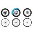 bike wheel set vector image