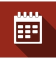 Calendar icon with long shadow vector image