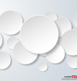 Abstract white paper circles vector image