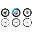 bike wheel set vector image