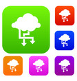 cloud and arrows set collection vector image