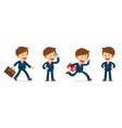 set of businessman working character design flat vector image