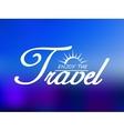 Travel header on blue sea background vector image