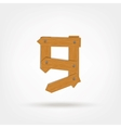 Wooden Boards Number Night vector image