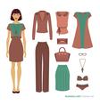 Business lady Fashion set vector image