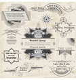 Wedding Vintage Invitation Collection vector image