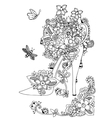 zentangl women s shoes with vector image