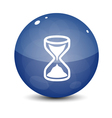 Blue Sand Clock Icon vector image vector image