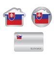 Home icon on the Slovakia flag vector image vector image