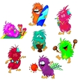Monsters on the Beach vector image