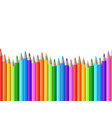 rainbow seamless row of color drawing pencils vector image