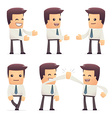 set of manager character in different poses vector image vector image