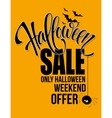 Halloween sale Happy holiday vector image