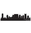 nashville tennessee skyline detailed silhouette vector image