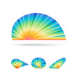 abstract colorful sign set vector image