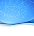 Atom abstract blue modern transparent wave layout vector image