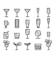 Beverage drinks thin line symbol icon vector image