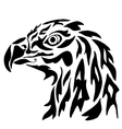 Eagle for coloring or tattoo vector image