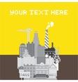 Pixel art urban card vector image