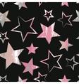 Seamless universal pattern Grunge texture Stars vector image