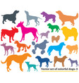 set of colorful dogs silhouettes-3 vector image