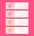 set of four web banners with roses flowers vector image