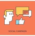 Social Campaign vector image