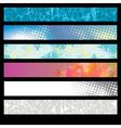 Abstract Splatter Pattern Banner vector image vector image