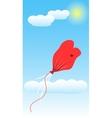 Balloon Love Deflate Art vector image