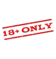 18 Plus Only Watermark Stamp vector image