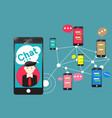 people chat room community app for smartphone vector image