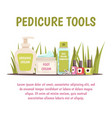 pedicure tools concept vector image