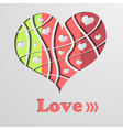 Abstract background with color strip heart vector image