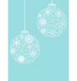 Christmas ball snowflakes pattern background vector image