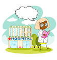 Doctor working at the hospital vector image vector image