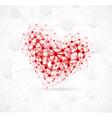molecular heart vector image vector image
