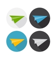 Airplane Flat Icon with Long Shadow vector image