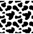 Black and white cow skin animal print seamless vector image