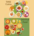 british thai and finnish cuisine icon set design vector image