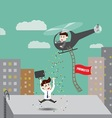 Employees get promoted vector image
