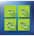 Internet service provider icons eps 10 vector image