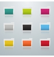 Set of Colored Folders in Perspective vector image