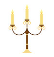 vintage candelabrum isolated vector image