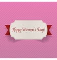 Womens Day March 8 greeting Card with Ribbon vector image
