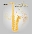 saxophone wind musical instruments stock vector image vector image
