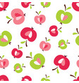 seamless pattern with abstract cute apples vector image